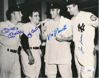 Mickey Mantle, Yogi Berra, Vic Raschi & Joe Collins Signed Yankees 8x10 Photo (JSA LOA) at PristineAuction.com