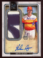 Nolan Ryan 2018 Topps Museum Collection Momentous Material Jumbo Patch Autographs #JPANR at PristineAuction.com