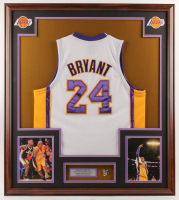 Kobe Bryant 33x37 Custom Framed Jersey With Lakers Championship Pin at PristineAuction.com