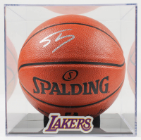 Shaquille O'Neal Signed NBA Game Ball Series Basketball with Lakers Display Case (PSA COA) at PristineAuction.com