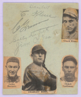 1935 Cubs 4x5 Cut Team-Signed by (4) with Chuck Klein, Gabby Hartnett, Jim O'Dea, & Charlie Grimm (JSA LOA) at PristineAuction.com