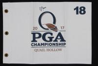 Justin Thomas Signed 2017 PGA Championship Pin Flag (PSA LOA) at PristineAuction.com