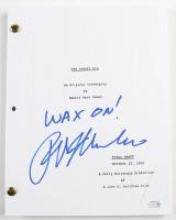"Ralph Macchio Signed ""The Karate Kid"" Movie Script Inscribed ""Wax On!"" (AutographCOA COA) at PristineAuction.com"