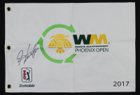 Hedeki Matsuyama Signed 2017 Waster Management Phoenix Open Golf Pin Flag (PSA LOA) at PristineAuction.com