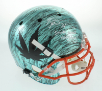 """Ricky Williams Signed Full-Size Hydro-Dipped Helmet Inscribed """"Smoke Weed Everyday!"""" (JSA COA) at PristineAuction.com"""
