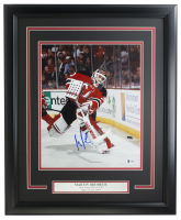 Martin Brodeur Signed Devils 16x20 Custom Framed Photo Display (Beckett COA) at PristineAuction.com