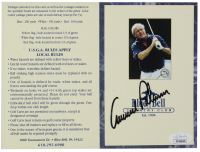 Arnold Palmer Signed Blue Bell Country Club Gold Scorecard (JSA COA) at PristineAuction.com