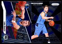Lot of (2) Luka Doncic Cards with 2018-19 Panini Prizm Freshman Phenoms #23 & 2019-20 Panini Mosaic Give and Go #10 at PristineAuction.com