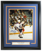 Wayne Gretzky Signed Oilers 16x20 Custom Framed Photo Display (JSA Hologram) at PristineAuction.com