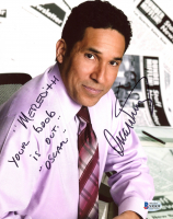"Oscar Nunez Signed ""The Office"" 8x10 Photo Inscribed ""Meredith, Your Boob Is Out"" & ""Oscar"" (Beckett COA) at PristineAuction.com"