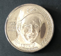 Brooks Robinson LE 1 Troy Ounce .999 Silver Bullion Round (Toned) at PristineAuction.com