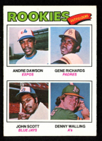 1977 Topps #473 Rookie Outfielders / Andre Dawson RC / Gene Richards RC / John Scott / Denny Walling RC at PristineAuction.com