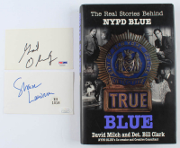 "Lot of (3) ""NYPD Blue"" Items with (2) Cuts & ""NYPD Blue: True Blue"" Hard-Cover Book Signed by (11) with James McDaniel, Kim Delaney, Jimmy Smits, Deniis Franz (JSA COA, JSA LOA & PSA COA) at PristineAuction.com"