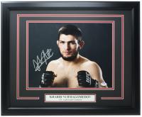 Khabib Nurmagomedov Signed 16x20 Custom Framed Photo Display (PSA COA) at PristineAuction.com