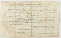 James Monroe Signed 1817 8.25x14 Land Grant Document (JSA LOA) at PristineAuction.com