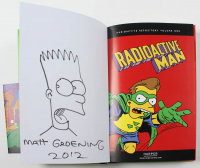 "Matt Groening Signed The Simpons 2012 ""Radioactive Man: Radioactive Repository"" Bongo Hard-Cover Graphic Novel with Hand-Drawn Bart Simpson Sketch Inscribed ""2012"" (JSA LOA) at PristineAuction.com"