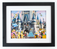 Disneyland 12.75x14.75 Custom Framed Vintage Disneyland Souvenir Pin Set Display with (4) Pins at PristineAuction.com