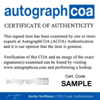 Vanilla Ice Signed 8x10 Photo (AutographCOA COA) at PristineAuction.com
