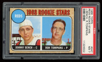 Johnny Bench 1968 Topps #247 Rookie Stars RC (PSA 7) at PristineAuction.com