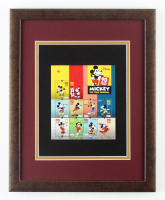 Mickey Mouse 12.5x15.5 Custom Framed Stamp Display at PristineAuction.com