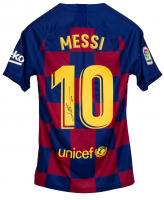 "Lionel Messi Signed Barcelona Nike Jersey Inscribed ""Leo"" (ICONS COA) at PristineAuction.com"