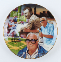 "Harry Caray Signed Cubs Collectors Plate Inscribed ""Holy Cow!"" (Beckett COA) at PristineAuction.com"