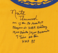 Nate Thurmond Signed Warriors Jersey with Extensive Inscription (Beckett Hologram) at PristineAuction.com