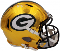Brett Favre Signed Packers Full-Size Chrome Speed Helmet (Radtke COA) at PristineAuction.com