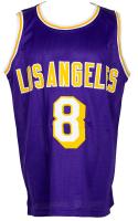 Kobe Bryant Signed Career Highlight Stat Jersey (PSA COA) at PristineAuction.com