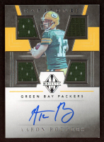 Aaron Rodgers 2019 Panini Majestic Capstones Jersey Autographs #3 at PristineAuction.com