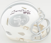 Jerry Rice Signed 49ers White ICE Speed Mini Helmet (TriStar Hologram) at PristineAuction.com