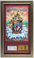 "Disneyland ""Splash Mountain"" 15.5x26.5 Poster Display with Vintage Ticket Book & Retired Disneyland Souvenir Figures in Shadowbox at PristineAuction.com"