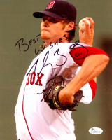 "Clay Buchholz Signed Red Sox 8x10 Photo Inscribed ""Best Wishes!"" (JSA COA) at PristineAuction.com"