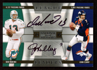 Dan Marino / John Elway 2009 Playoff National Treasures League Leaders Signature Combo #14 at PristineAuction.com