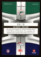 Dan Marino / John Elway 2009 Playoff National Treasures League Leaders Signature Combo #14 at PristineAuction.com