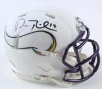 Adam Thielen Signed Vikings Matte White Speed Mini Helmet (Beckett COA) at PristineAuction.com