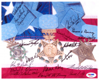 Medal of Honor Recipients 8x10 Photo Signed by (18) with Robert Maxwell, Donald Ballard, Gary Beikirch, John McGinty, Duane Dewey (PSA LOA) at PristineAuction.com