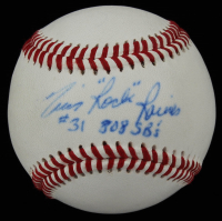 "Tim ""Rock"" Raines Signed Professional Signature Series Baseball Inscribed ""808 SB's"" (PSA COA) at PristineAuction.com"
