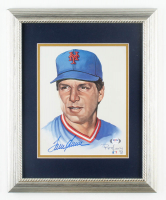Tom Seaver Signed Mets 13x16 Custom Framed Print Display at PristineAuction.com
