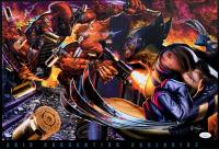 "Greg Horn Signed LE ""Deadpool vs Wolverine"" 13x19 Lithograph (JSA COA) at PristineAuction.com"