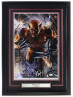 Greg Horn Signed Wolverine 20x26 Custom Framed Lithograph Display (JSA COA) at PristineAuction.com