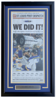 Blues 2019 Stanley Cup Champions 18x30 Custom Framed Newspaper Display at PristineAuction.com
