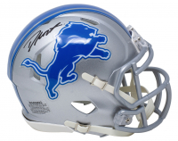 D'Andre Swift Signed Lions Speed Mini Helmet (Fanatics Hologram) at PristineAuction.com
