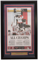 Washington Capitals 18x30 Custom Framed 2018 Stanley Cup Champions Newspaper Page Display at PristineAuction.com