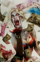 "Greg Horn Signed ""DCeased Harley Quinn's Blood Lust"" 11x17 Lithograph (JSA COA) at PristineAuction.com"