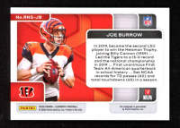 Joe Burrow 2020 Panini Elements Rookie Neon Signs #1 at PristineAuction.com