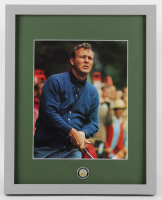 Arnold Palmer 12x15 Custom Framed Photo Display with 1962 Arnold Palmer Masters Pin at PristineAuction.com
