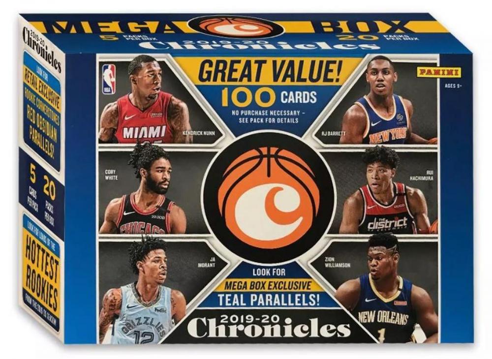 2019-20 Panini Chronicles Basketball Mega Box with (20) Packs at PristineAuction.com