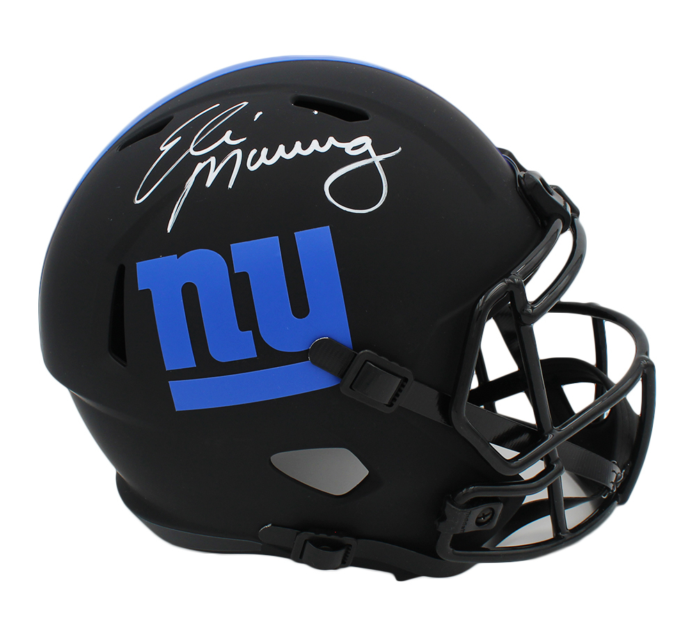 Eli Manning Signed Giants Full-Size Eclipse Alternate Speed Helmet (Fanatics Hologram) at PristineAuction.com