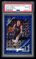 Luka Doncic 2019-20 Donruss Optic Blue Velocity #16 (PSA 10) at PristineAuction.com